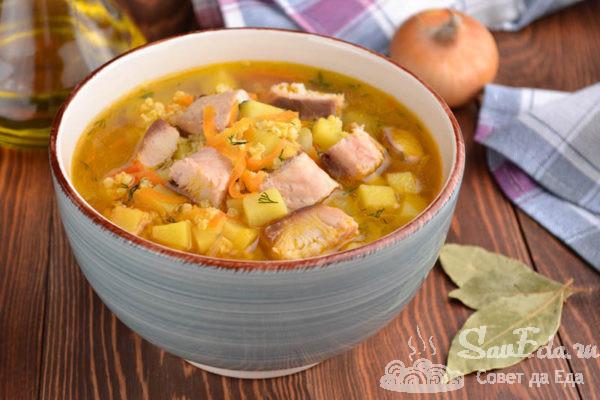 Суп из горбуши с пшеном