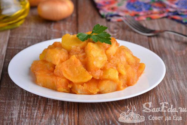 Тушеная картошка со сладкой паприкой