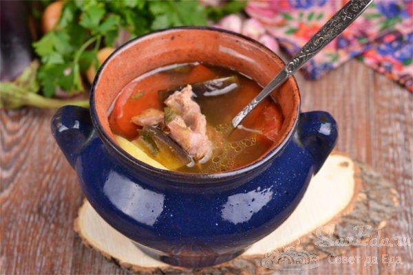 Чанахи – баранина с овощами в горшочках