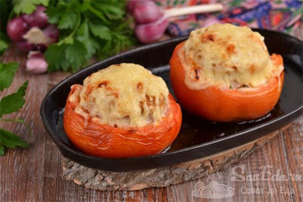 Фаршированные помидоры в духовке