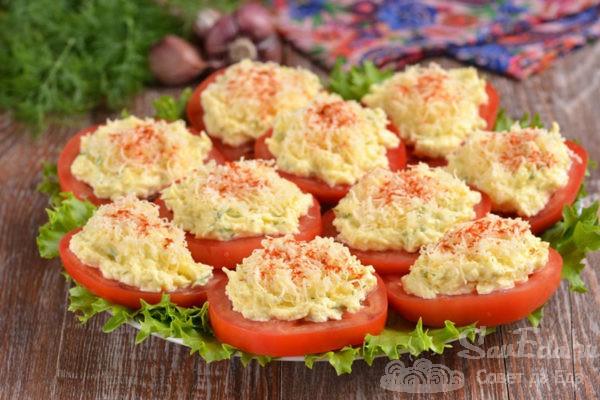 Закуска из помидор и сыра за 5 минут