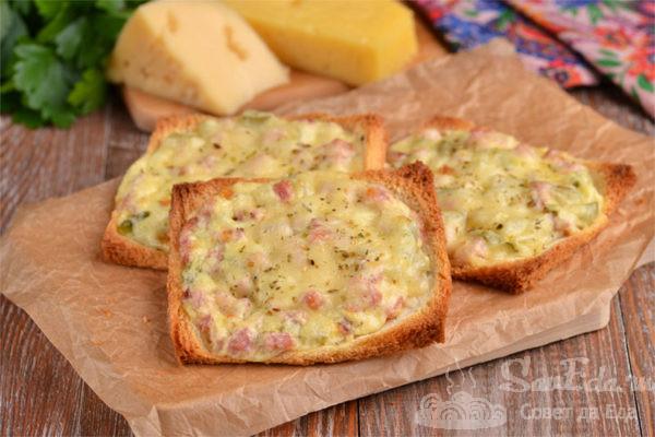 Горячие бутерброды на тостовом хлебе