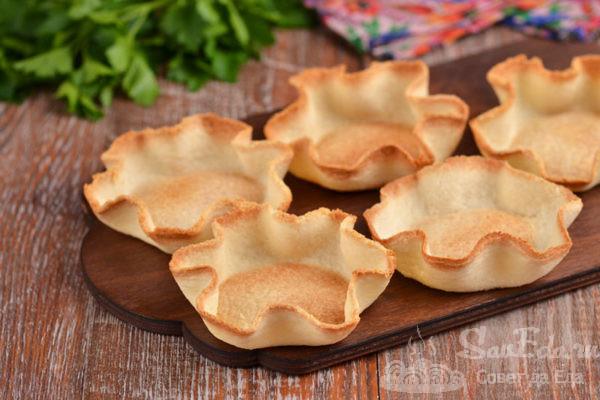 Тарталетки корзиночки из тостового хлеба