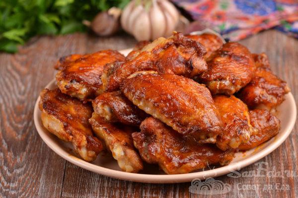 Куриные крылышки в соевом маринаде