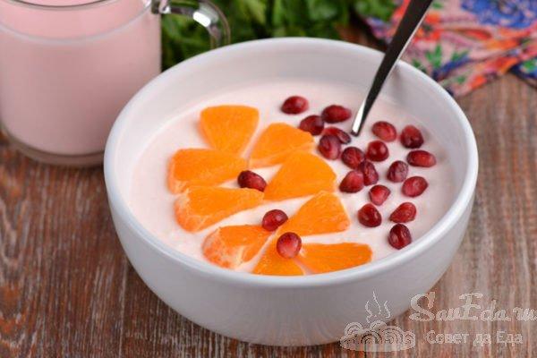 Быстрый завтрак из творога и йогурта