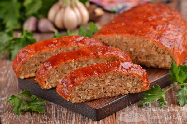 Мясной хлеб Митлоф из куриного фарша