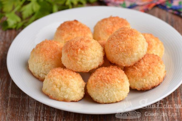 Быстрое кокосовое печенье без муки