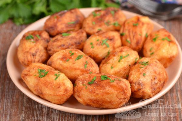 Жареный картофель целиком на гарнир