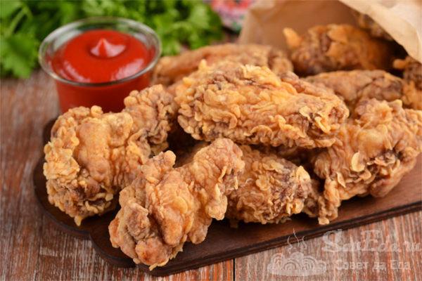 Куриные крылышки KFC. Настоящий рецепт