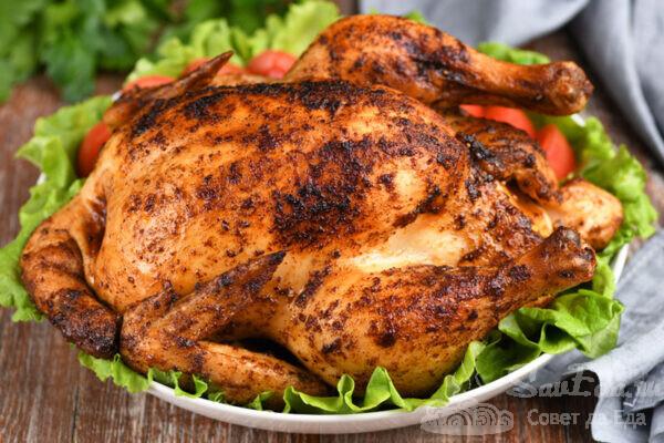 Курица в солевом растворе в духовке