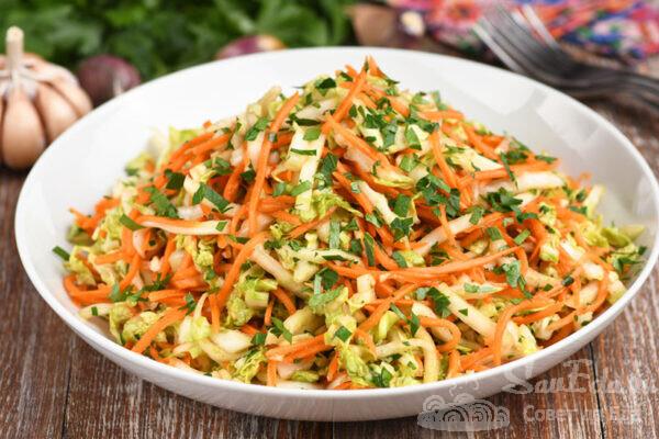 Пекинская капуста с морковью по-корейски