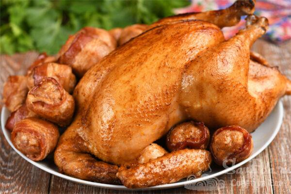 Курица целиком в соевом маринаде
