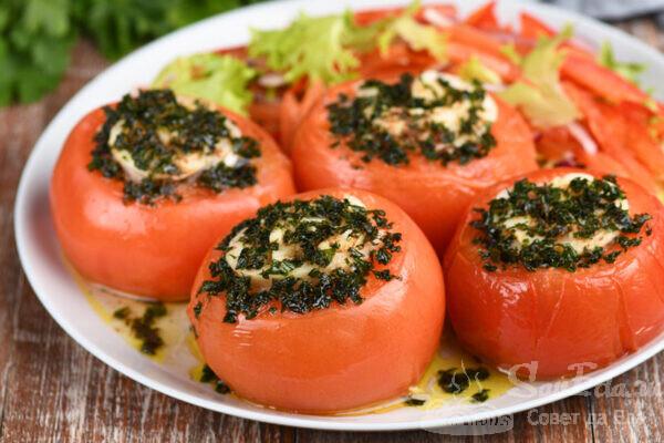 Рулетики из трески в помидорах