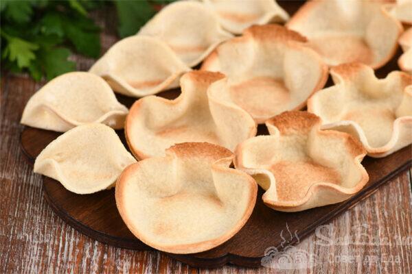 Тарталетки корзиночки из хлеба. Три варианта