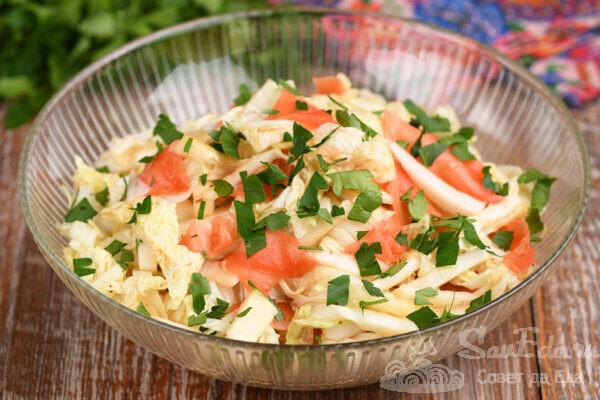 Салат из пекинской капусты с имбирем