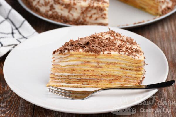 Торт без выпечки из творожного теста